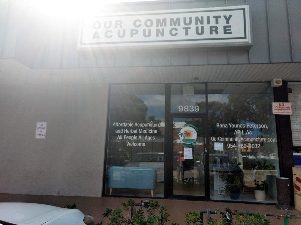 our community acupuncture storefront
